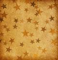 Old paper decorated with grunge stars vintage Royalty Free Stock Image
