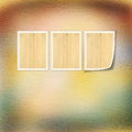 Old paper with grunge frames for photos Royalty Free Stock Photo