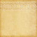 Old paper with oriental ornament beige background Stock Photography