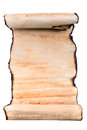 Old paper roll of ragged parchment Royalty Free Stock Image