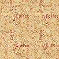 Old paper seamless coffee pattern
