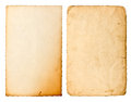 Old paper sheet with edges isolated on white background used cardboard texture scrapbook object Royalty Free Stock Images