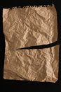 Old Paper Sheet Isolated On Bl...