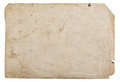 Old paper sheet isolated white background cardboard texture Royalty Free Stock Photo