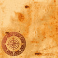 Old paper texture and compass rose Stock Photography