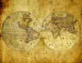 Old paper world map. Stock Photo