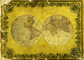 Old paper world map. Royalty Free Stock Photography