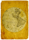 Old paper world map. Stock Images