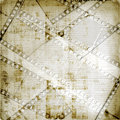 Old papers and grunge  filmstrip Royalty Free Stock Image