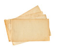 Old papers isolated on white Royalty Free Stock Photo