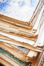Old papers tall heap of Royalty Free Stock Image