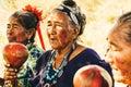 Old Paraguayan indigenous Guarani Women perform a Song Royalty Free Stock Photo