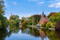 Old Park in Brugge Royalty Free Stock Photo
