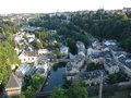 Old part of the city of luxembourg picture town Stock Photos