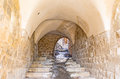 The old pass medieval mardin is full of narrow streets and tiny passes under houses turkey Stock Photography