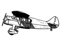Old passenger plane vintage style vector illustration Royalty Free Stock Photography