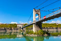 Old Passerelle du College bridge over Rhone river in Lyon, Franc Royalty Free Stock Photo