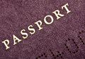 Old passport front cover closeup of an european Stock Photography
