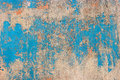 Old peeled paint and dirt on old blue wooden wall background Stock Photography