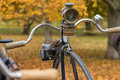 An old penny-farthing bicycle Royalty Free Stock Photo