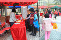 Old people healthy day event december located in tseung kwan o hong kong the aims to promote messages for local Stock Photos
