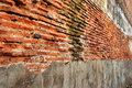 Old perspective brick wall Stock Images