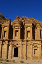 Old petra in jordan on a sunny day with clear sky Stock Image