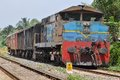 Old petti train in srilanka badu kalaniya on Stock Photography