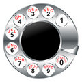 Old phone dial disk Royalty Free Stock Photography