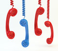 Old phone handsets Royalty Free Stock Photo