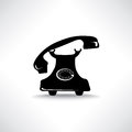 Old phone icon retro phone symbol communiacion Stock Photos