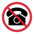 Old phone in red circle flat icon isolated on white background. Hotline symbol. Telephone vector illustration. Phone contact Royalty Free Stock Photo