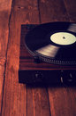 Old phonograph and gramophone records retouching vintage Royalty Free Stock Photos