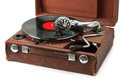 Old phonograph and vinyl record Royalty Free Stock Photo