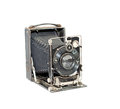 Old photo camera antique isolated on a white background Stock Photography