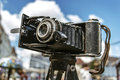 Old photo camera antiques fair in timisoara romania Stock Photo
