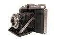 Old photo camera isolated on white background Stock Photo