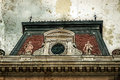 Old photo with facade on classical building. Belgrade, Serbia 2 Royalty Free Stock Photo