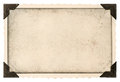 Old photo frame with corner and empty field for your picture Royalty Free Stock Photo
