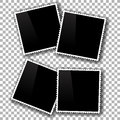 Old photo frames isolated on checkered background checkered pattern Royalty Free Stock Image