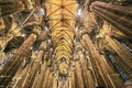 Old photo with interior at the Milan cathedral Royalty Free Stock Photo