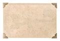 Vecchio carta angolo su bianco