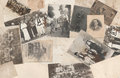 Old photos antique background with collection Royalty Free Stock Image