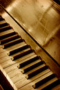 Old piano keyboard Royalty Free Stock Image