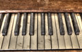 Old Piano Keys Stock Photos