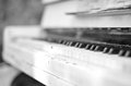 The old piano Royalty Free Stock Photo