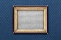 Old picture frame on a colored background Royalty Free Stock Photo
