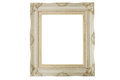 Old picture frame isolate on white background with clipping path Stock Photography