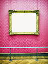 Old picture frame at a museum nice background with copy space Royalty Free Stock Photography