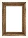 Old picture frame white background Royalty Free Stock Image